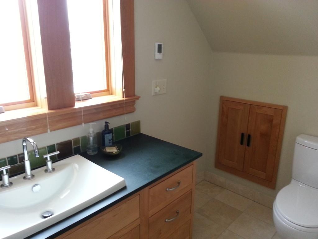 Green Bathroom Design  www.mindfulmomma.com