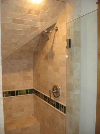 Green Bathroom Design - shower www.mindfulmomma.com