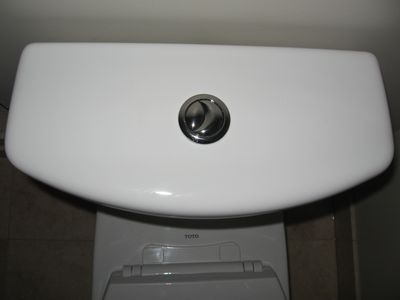 Green Bathroom Design - toilet www.mindfulmomma.com