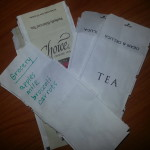 Easy Eco-Tip: Turn Tea Bag Wrappers into Note Paper
