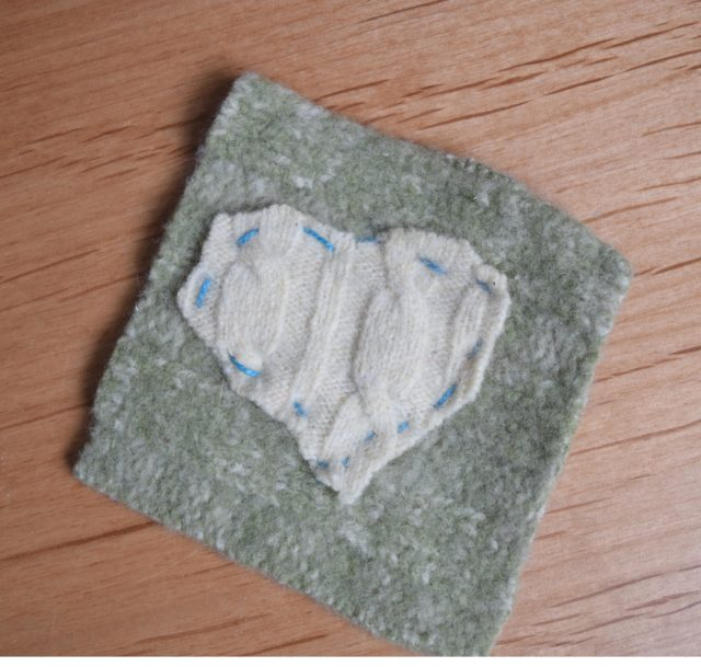DIY Felted Sweater Coasters | Mindful Momma