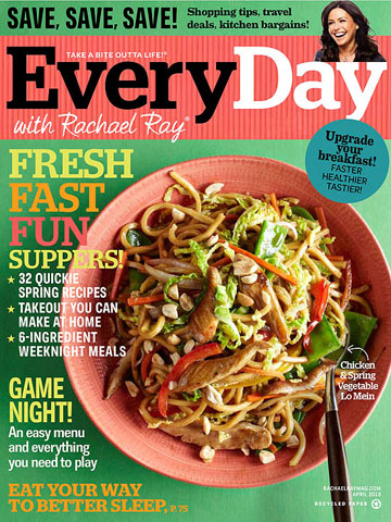 Rachael Ray April 3013 cover