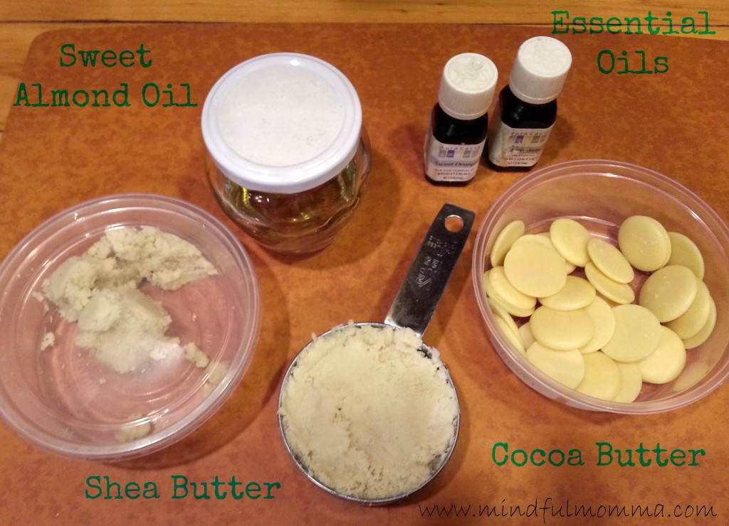 Whipped body butter ingredients www.mindfulmomma.com