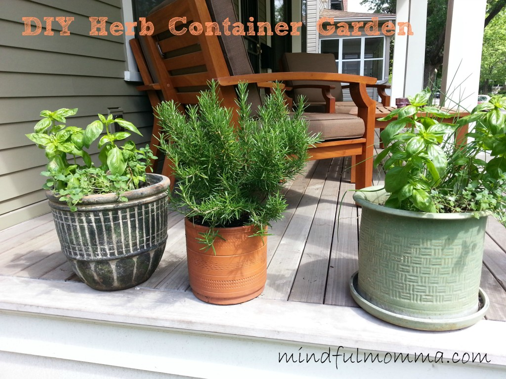 How to make an herb container garden for Making a kitchen garden
