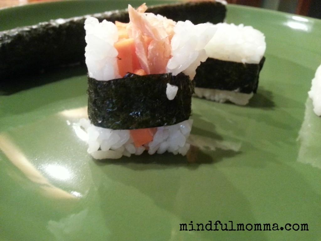 sushi rice cube www.mindfulmomma.com