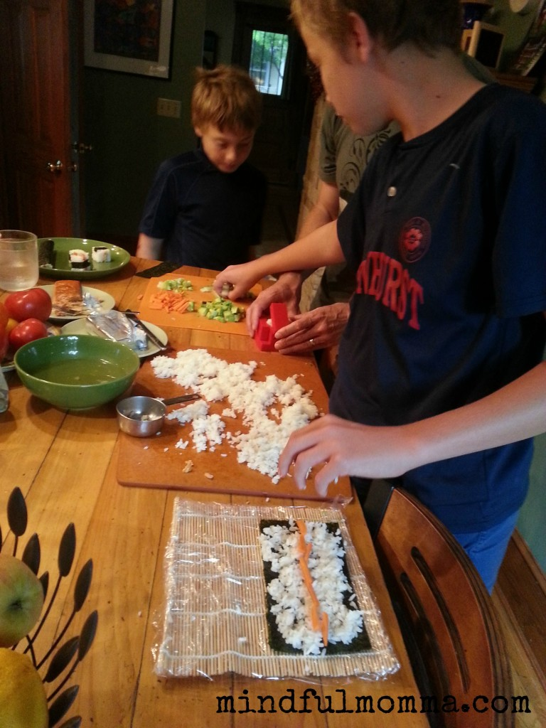 Kid Friendly Sushi www.mindfulmomma.com
