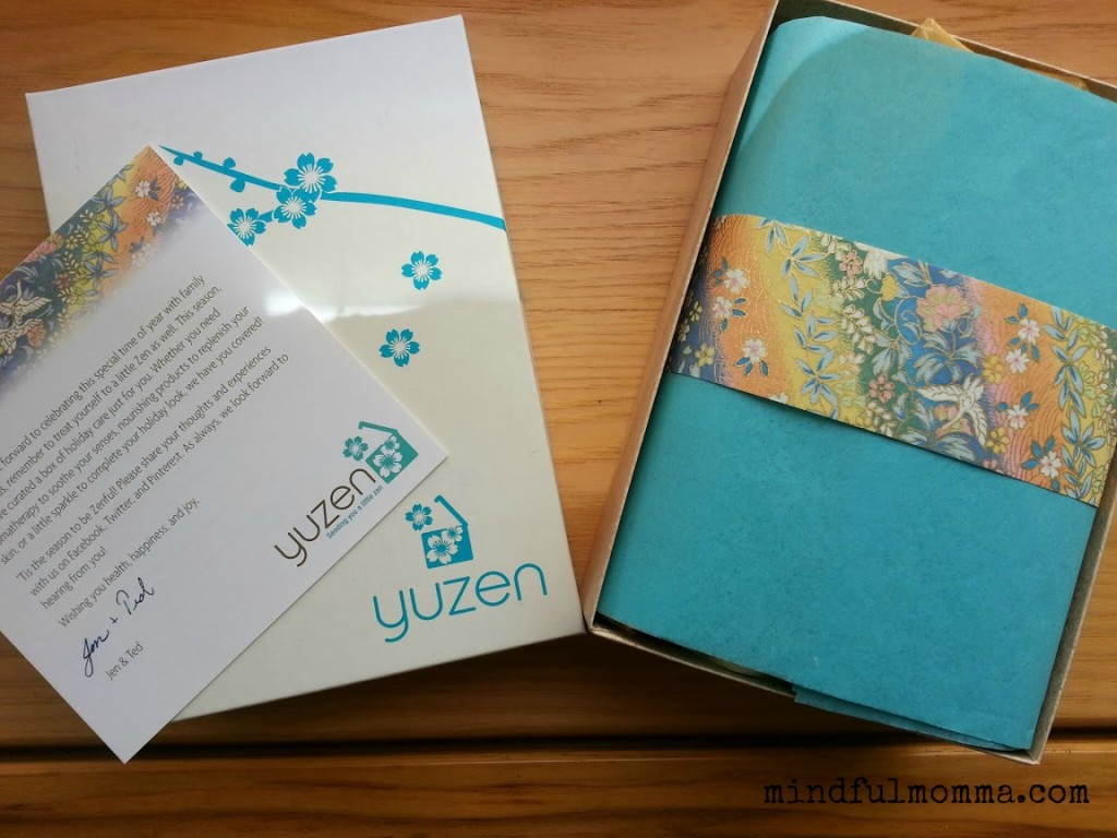Yuzen Box packaging 2013 www.mindfulmomma.com