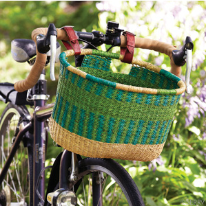 Serrv bicycle basket via mindfulmomma.com