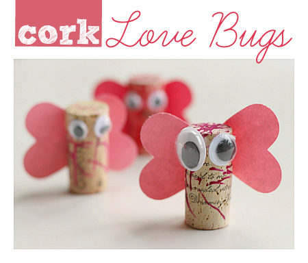 cork-love-bug-craft from No Time For Flash Cards