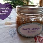 Homemade Sweet Lavender Scrub via mindfulmomma.com