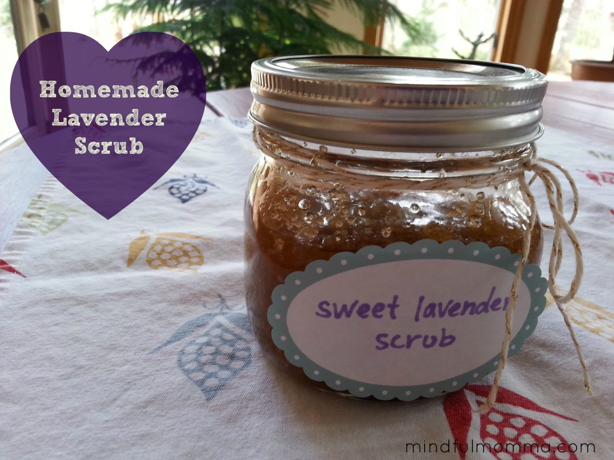 Homemade Lavender Hand & Body Scrub - Mindful Momma