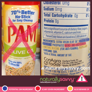 Naturally Savvy PAM spray