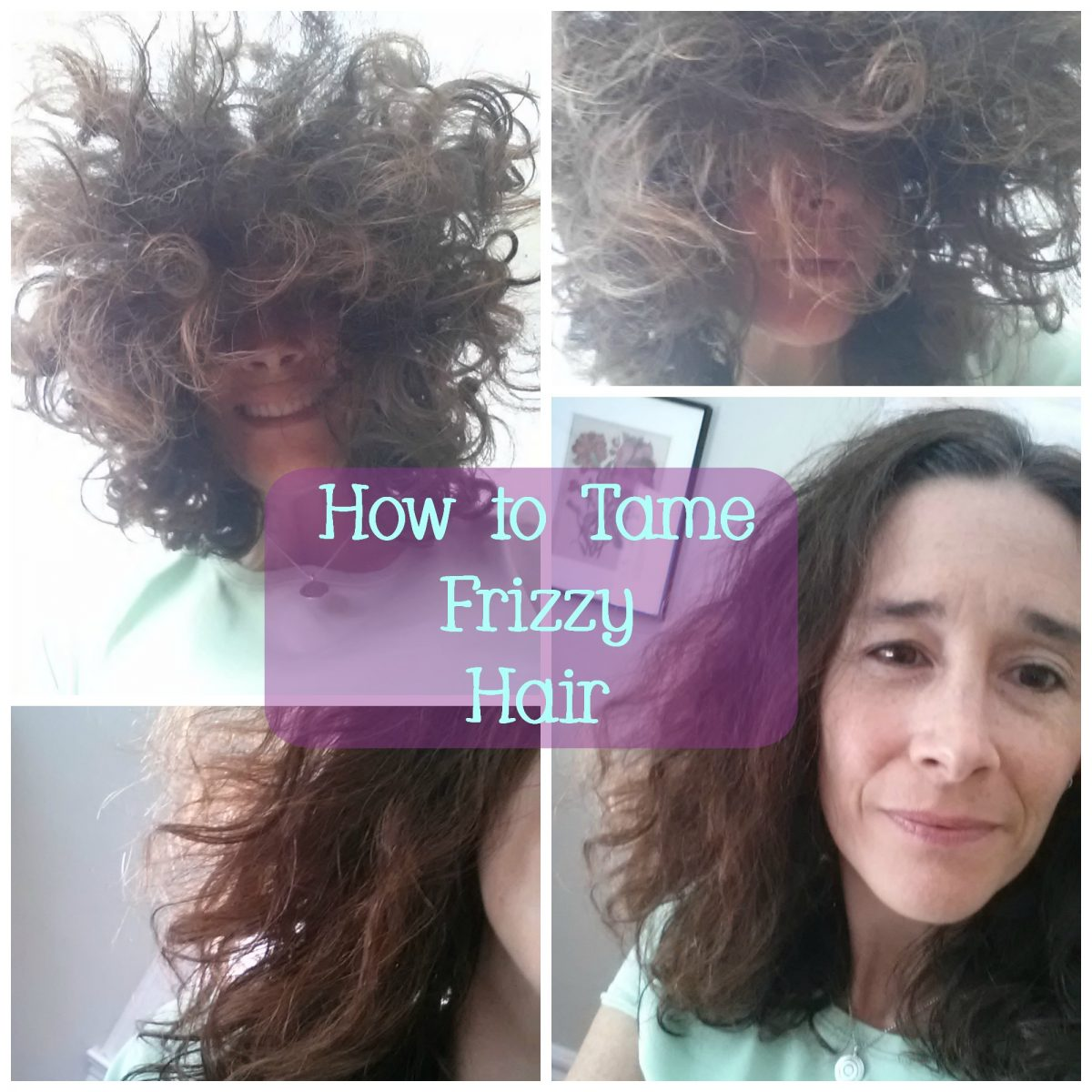 how to get non frizzy hair at home