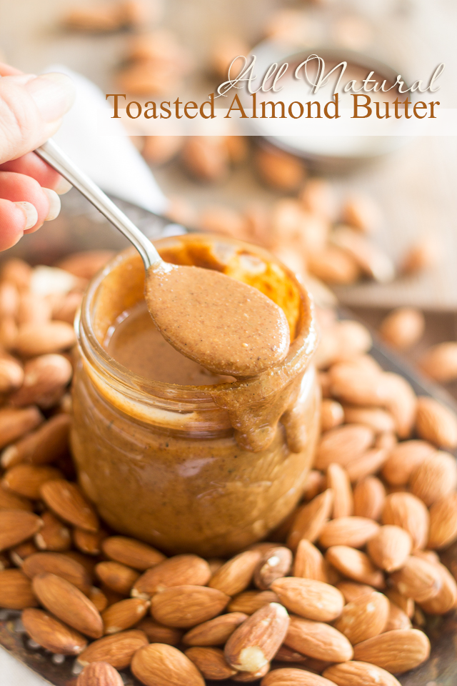 Toasted-Almond-Butter from The Healthy Foodie
