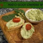 Easy Pesto Goat Cheese Spread www.mindfulmomma.com