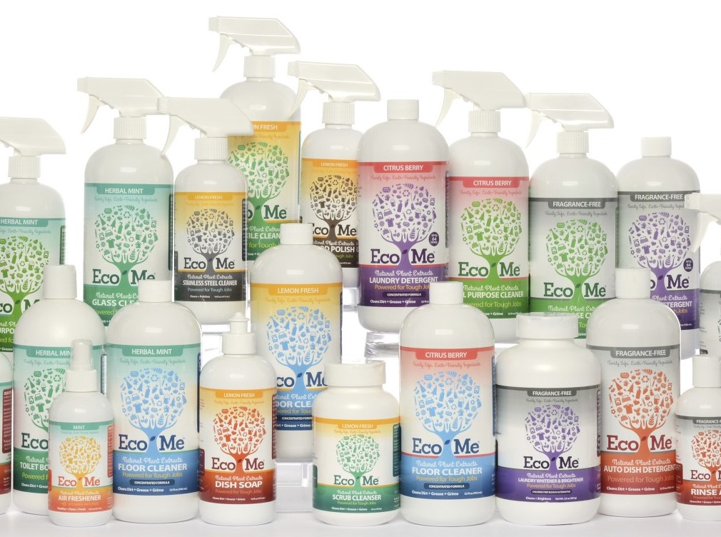 Eco Me cleaning products via mindfulmomma.com