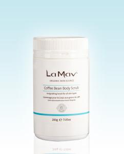 La Mav Coffee Bean Body Scrub via mindfulmomma.com
