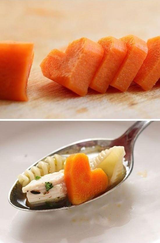 Heart shaped carrots from Sophistimom
