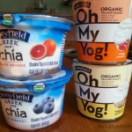 Stonyfield Greek & Chia and Oh My Yog