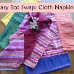 Easy Eco Swap - cloth napkins vs paper