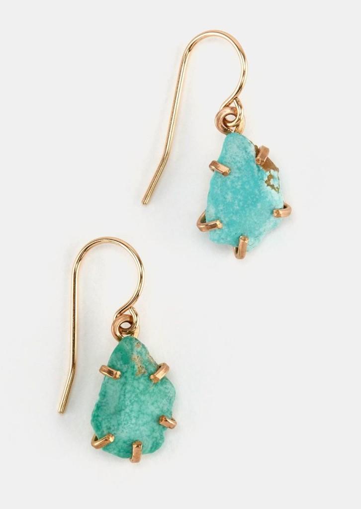 Rodales Raw Gemstone Drop Earrings