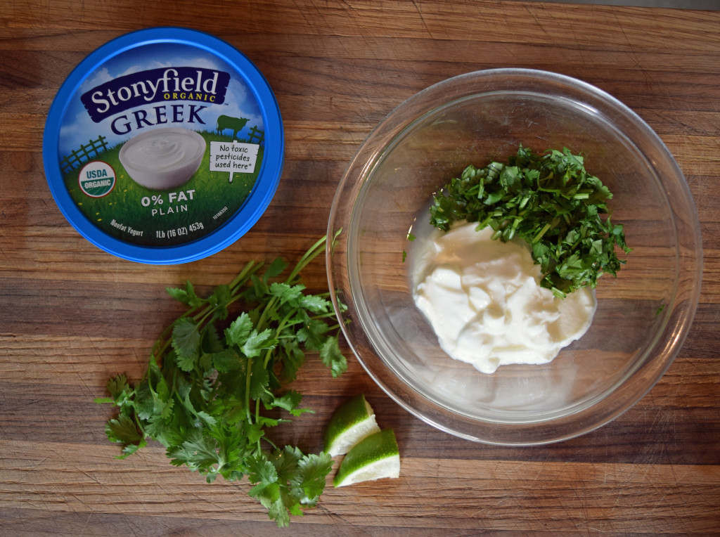 Chipotle Bean Dip with Cilantro Lime Cream cropped via mindfulmomma.com
