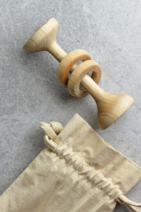 wooden rattle & teether