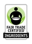 Fair trade certified ingredients