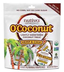 Nutiva O-Coconut and other organic snacks