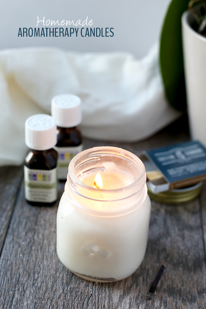 Homemade-Aromatherapy-Candles from The Healthy Maven