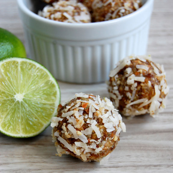 Coconut Lime Energy Bites by Paleo Grubs