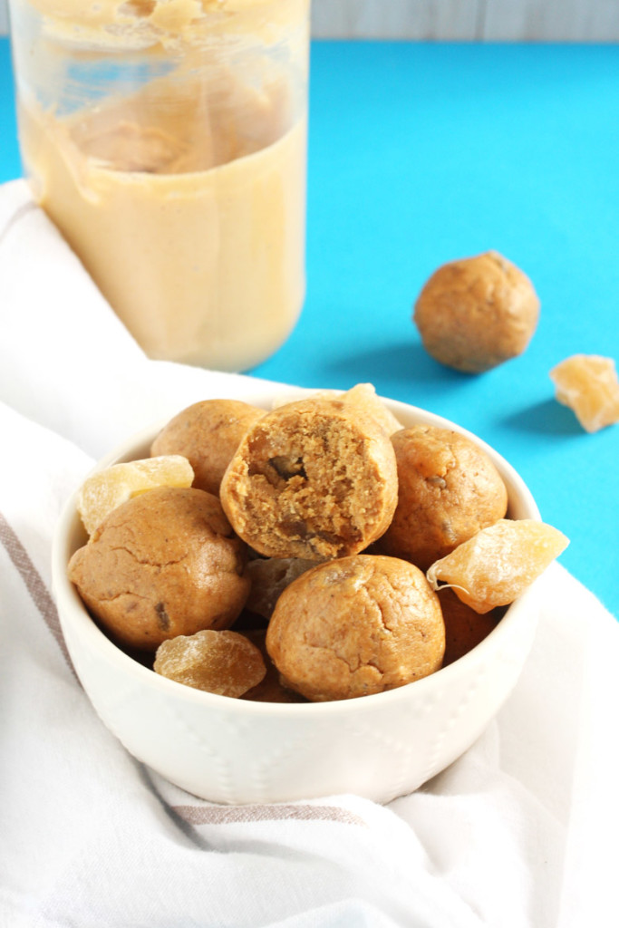 Gingersnap Cookie Energy Bites by 24 Carrot Life