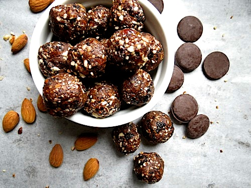 Blueberry Dark Chocolate Energy Bites by Better With Cake