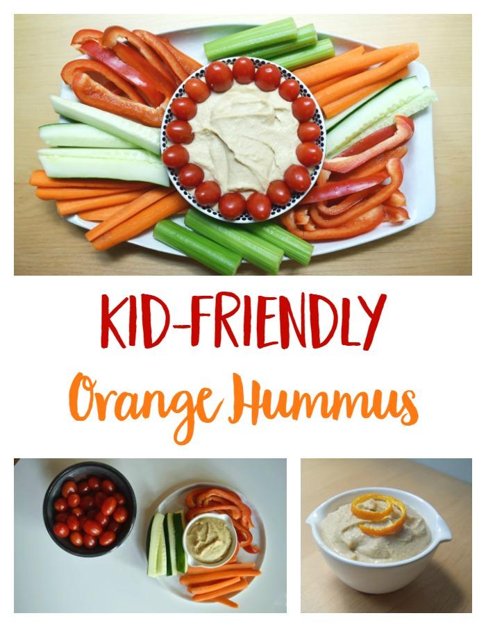 Kid Friendly Orange Hummus // www.mindfulmomma.com