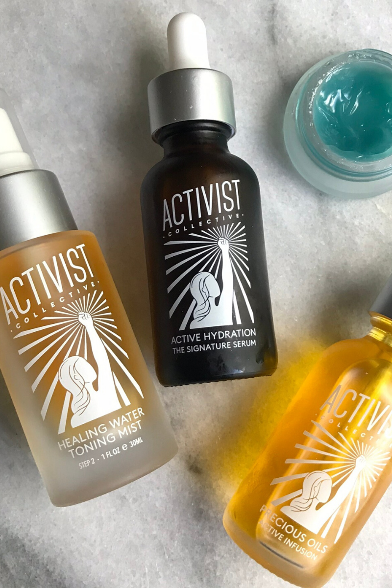 Learn all about Activist Collective skincare - a line of sustainable skincare made with active, effective ingredients and refillable with low-waste refill pouches. | #skincare #lowwaste #refillable #naturalbeauty via @MindfulMomma