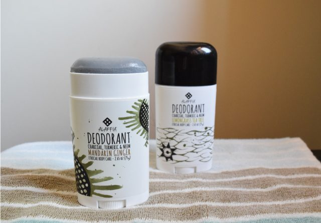 Alaffia deodorant and other beauty products made with activated charcoal