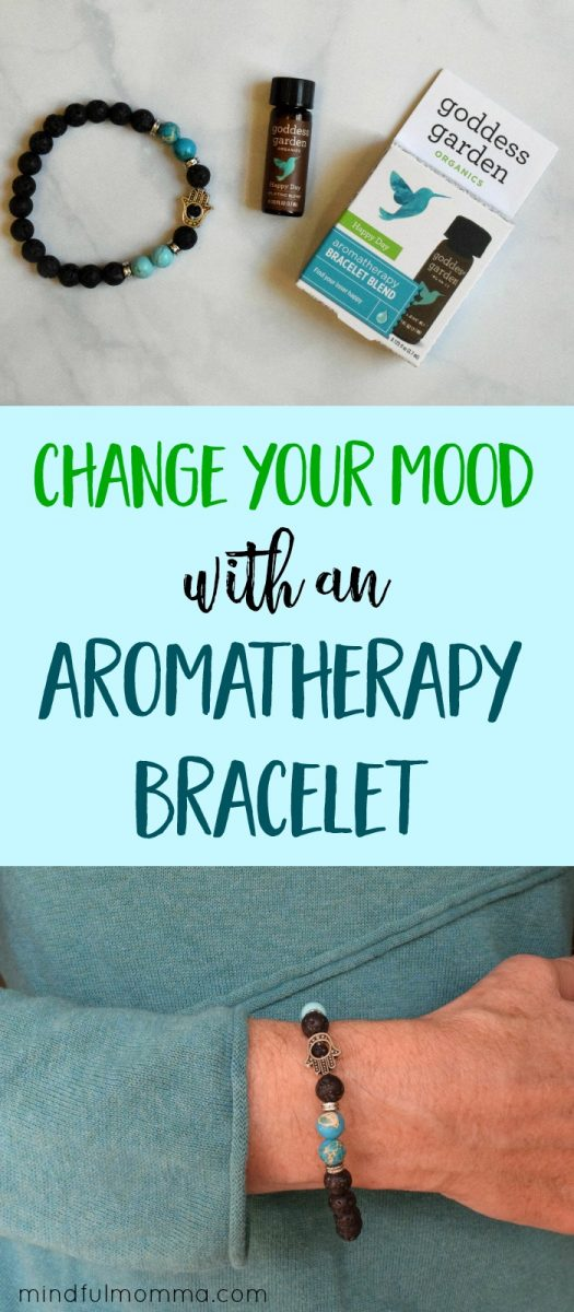 Goddess Garden Aromatherapy Bracelets are made with porous lava rock to carry the scent of essential oils, so you can experience the mood changing benefits on-the-go. #ad #aromatherapy #essentialoils #gifts via @MindfulMomma