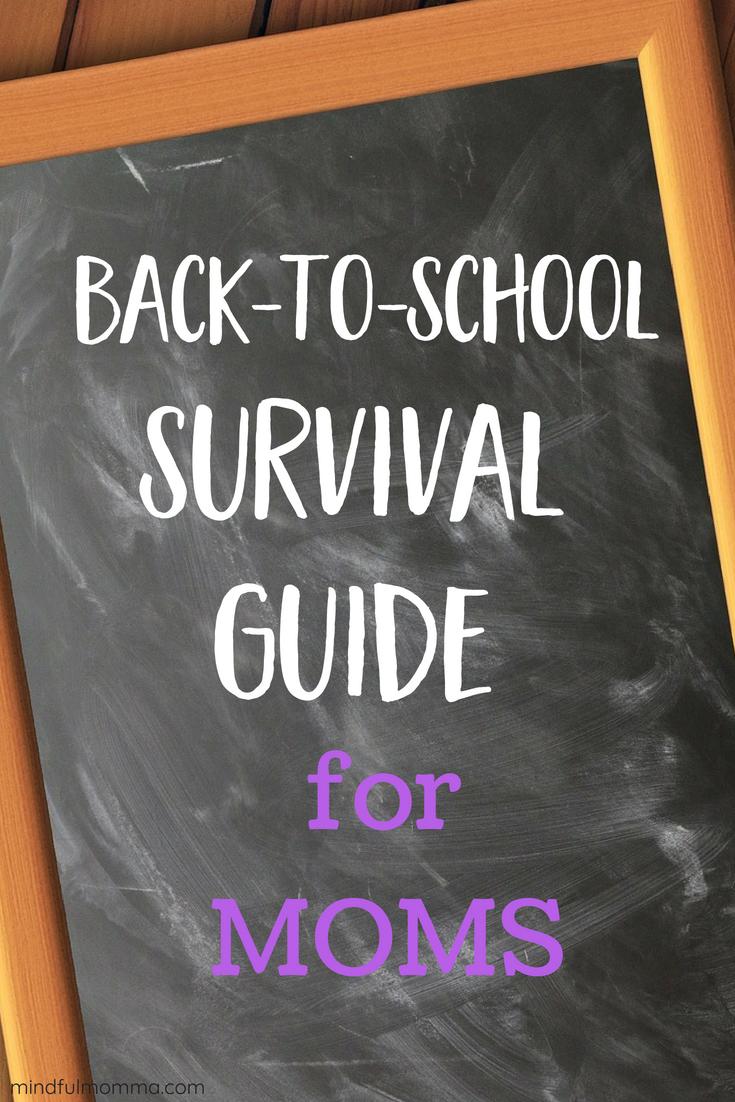 Back-to-School Survival Guide for Moms via @MindfulMomma