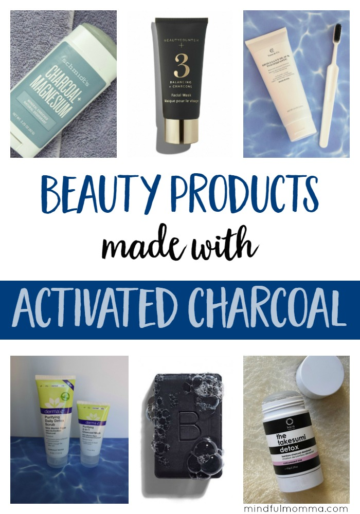 Natural beauty products like facial masks, deodorant and toothpaste that contain activated charcoal to help you detox from the outside in. | health & wellness | natural lifestyle | clean green beauty via @MindfulMomma
