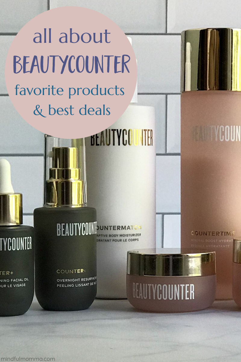 Beautycounter Facts & Deals: Learn all about Beautycounter - from the social mission behind the the brand, to the best Beautycounter products. Also find out how to get the best deals on Beautycounter products - including a list of current specials and info on how to join the Band of Beauty membership program to save even more money. | #Beautycounter #betterbeauty #beauty #skincare #cosmetics via @MindfulMomma