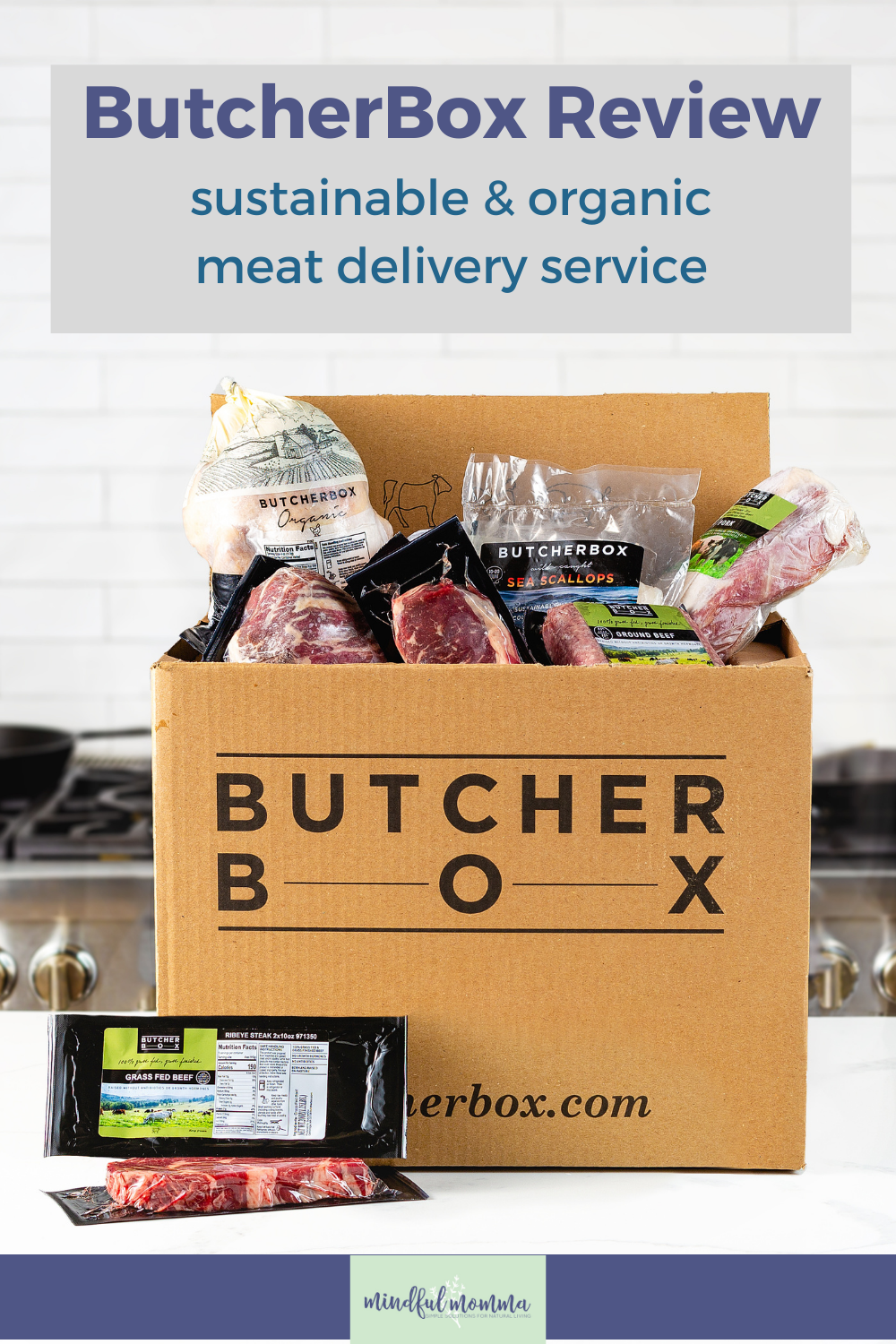 Is ButcherBox worth it? This ButcherBox review will help you decide if this sustainable and organic meat delivery service makes sense for your family.#organic #sustainable #meat #fooddelivery via @MindfulMomma
