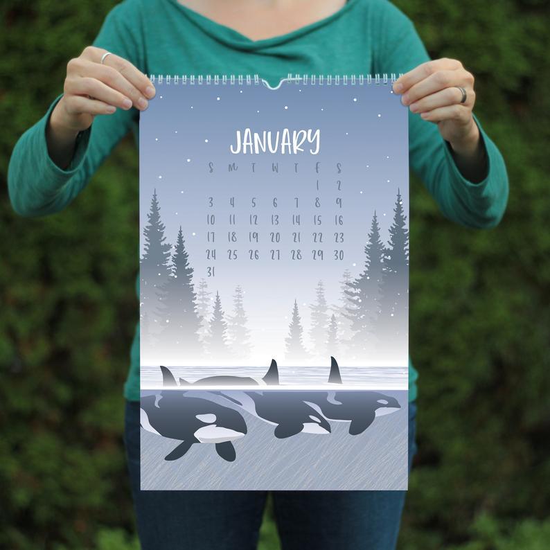Calendar 2021 Etsy gifts