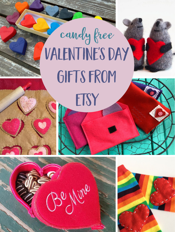 Candy Free Valentines Day Gifts from ETSY