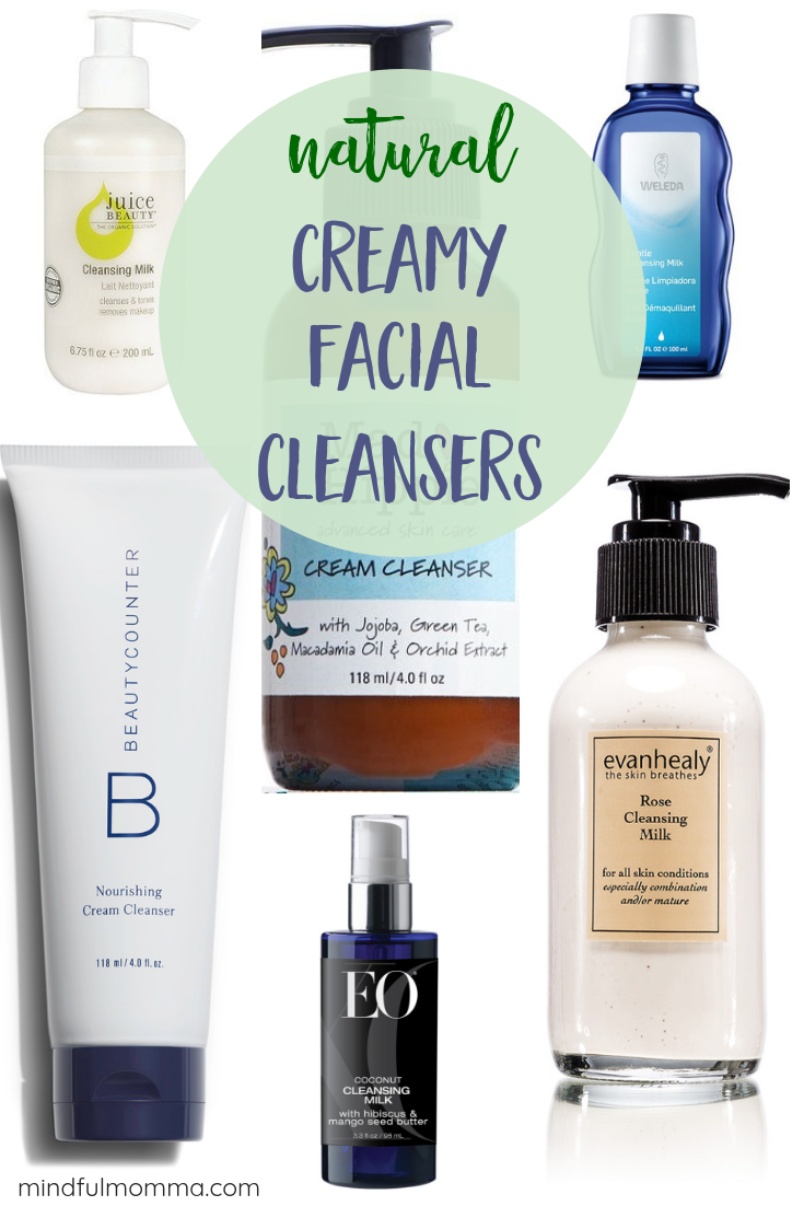 Your skin will love these creamy facial cleansers and cleansing milks made with natural, non-toxic ingredients. A great addition to your natural skin care routine - especially for those with dry or aging skin. #nontoxic #beauty #naturalproducts #greenbeauty #beautycounter via @MindfulMomma