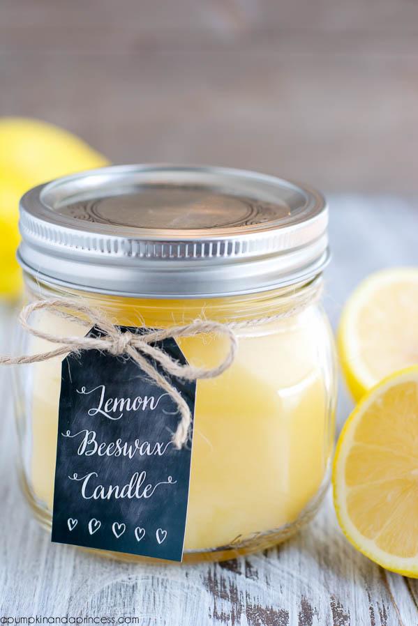 DIY Lemon Beeswax Candles