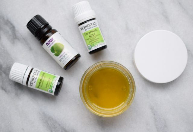 DIY Cleansing Balm in jar with oils