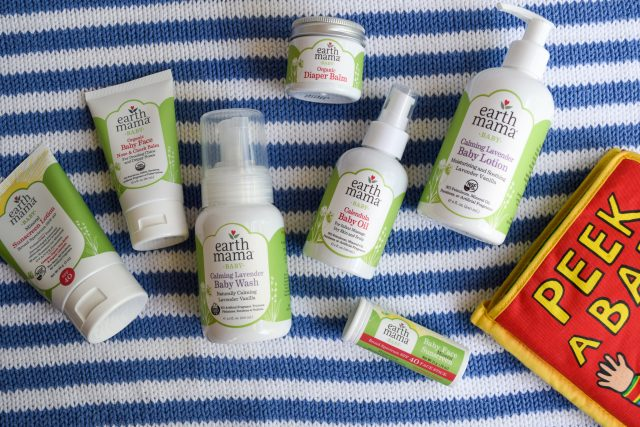 Earth Mama natural baby skin care products