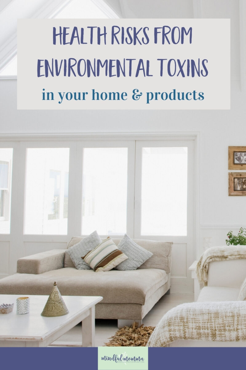 Learn how environmental toxins may be harming your health and why you should include reducing toxins in your home and products to your healthy living plan. via @MindfulMomma
