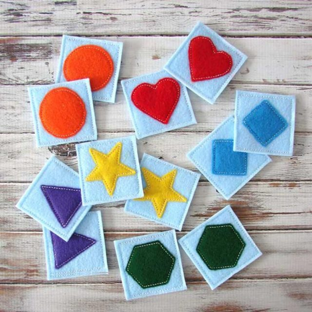 Felt Memory Match Game Etsy