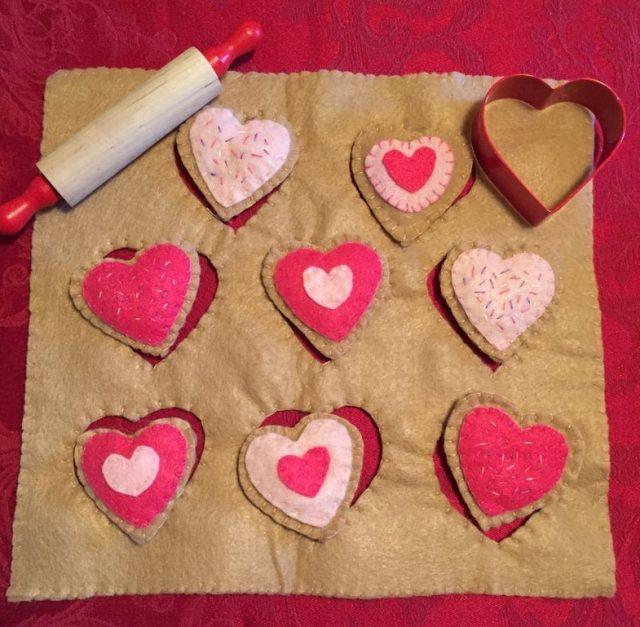 Felt Valentine Cookie Set